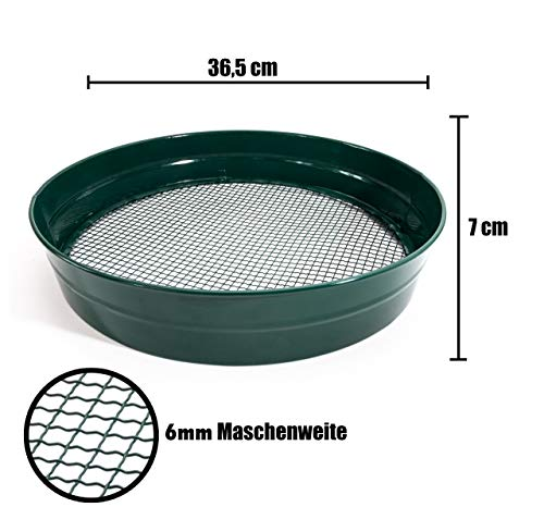 Gartensieb Erdsieb/Bodensieb 6mm zum aussieben von Erde Kompost und Aussehen von Saatgut