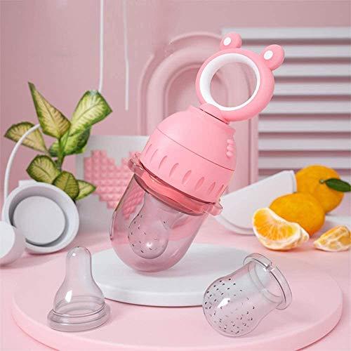 WCJ Babyvoeding Feeder Fruit Feeder Fopspeen, Fopspeen Silicone Infant tandjes krijgen Toy Bijtring for baby's en peuters, roze, paars (Color : Pink)
