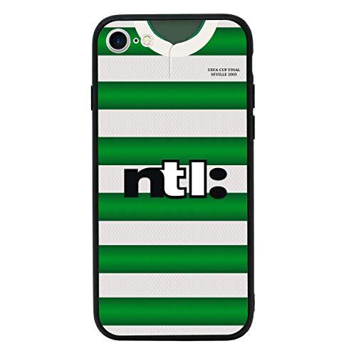 Retro Voetbalshirts Achterkant van Gehard Glas Geval Compatibel met iPhone 7 Plus - Telefoon Beschermhoes voor 5,5 inch Scherm