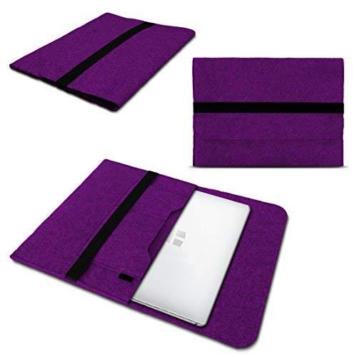 NAUC Laptoptasche Sleeve Schutztasche Hülle kompatibel für Trekstor Surftab Theatre 13,3 Zoll Tasche Netbook Ultrabook Laptop Hülle, Farben:Lila