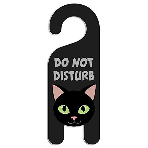 Black Cat Do Not Disturb Kunststoff Türknauf Hanger Schild Do Not Disturb