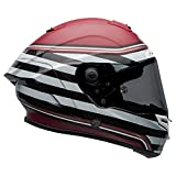 Bell Race Star DLX Full-Face Motorcycle Helmet (RSD The Zone Matte/Gloss White Candy Red, X-Large)