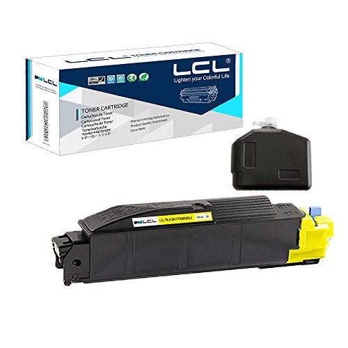 LCL Cartucho de tóner Compatible TK5140 TK-5140 TK-5140Y 1T02NRANL0 (1 Amarillo) Reemplazo para Kyocera ECOSYS M-6530cdn M-6030cdn P-6130cdn