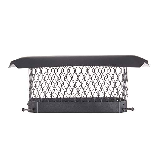 Best Price HY-C SCC1313 Shelter Bolt On Single Flue Chimney Cover, Mesh Size 5/8, Fits Outside Exis...