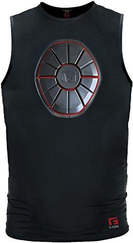 G-Form Baseball Pro Sternum Shirt, Black/Red, Adult Large
