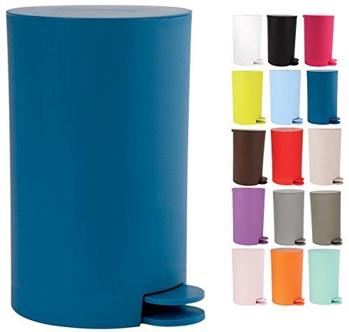 MSV Kosmetikeimer Osaki Mülleimer Treteimer Abfalleimer - 3 Liter – mit herausnehmbaren Inneneimer - Blau