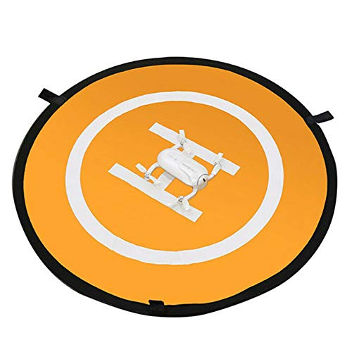 RJRK Launch Pad Drone Landing Pad Universal Waterproof,Portable Foldable Landing Pads,Lightweight Fast Fold Drone Landing Pad Orange-110Ccm