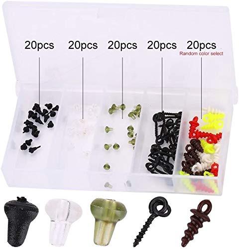Boilie Stopper Schraube, 100Pcs Anglen Haken Stopper Kunststoff Perlen Haken Stöpsel