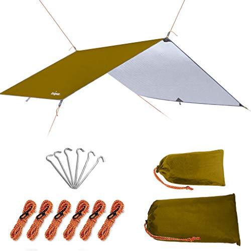 Unigear Toldo Camping Impermeable Lona Suelo Protector Aolar Anti-Viento Toldos para Playa Tienda Hamaca Acampada Refugio Al Aire Libre (Marrón, 300X400CM)