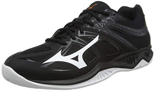 Mizuno Thunder Blade 2, Zapatillas de vóleibol Unisex Adulto, Negro/Blanco/Ébano, 46.5 EU