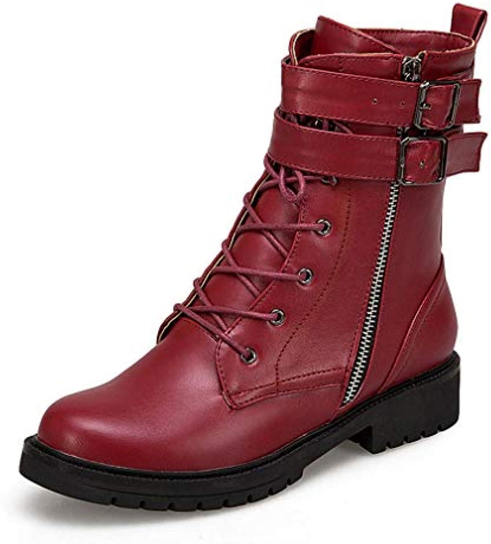 T -JULY Woherrar Woherrar Woherrar Plus Storlek Up skor Kvinnliga bälten Autumn Winter Ankle stövlar Cool Girl mode Martin skor  försäljning med hög rabatt