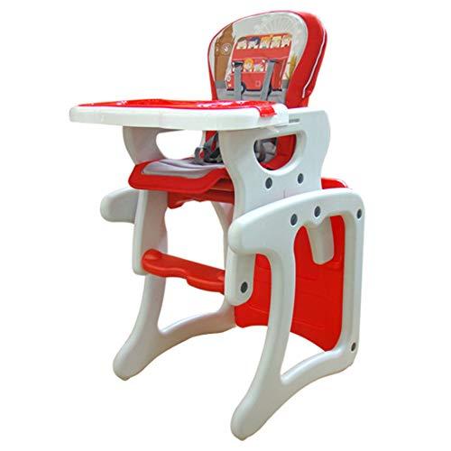 KUANDARYJ Multifonctionnel Chaise Haute Bébé Réglable, Pratique et Compacte, Red
