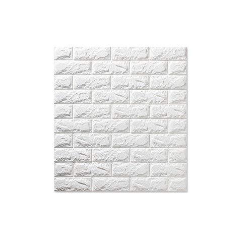 PYLTTK 3D Wall Panel DIY Self Adhesive Bedroom Waterproof Foam Brick Room Wallpaper Wall Decor Living Wall Sticker 38 * 35cm*10Pcs