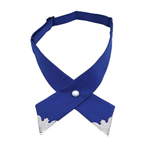 Sperrins Solide Criss-Cross-Schuluniform Vorgebundene Fliege Verstellbare Criss-Cross-Uniform Krawatte für Frauen Mädchen Männer