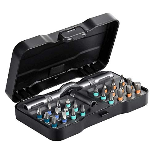 ZS ZHISHANG Rotating Screwdriver Kit 24 pcs with Detachable Handle Household Multifunctional Screwdriver Set