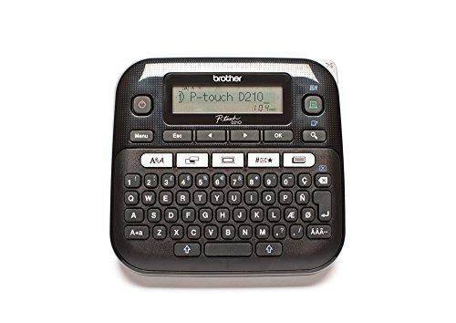 Brother PT-D210VP Beschriftungsgerät inklusive Netzadapter und Transportkoffer (für 3,5 bis 12 mm breite TZe-Schriftbänder, bis zu 20 mm/Sek. Druckgeschwindigkeit)