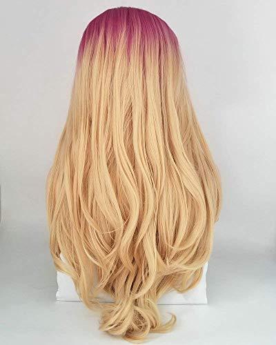 Oranje Lace Front pruik Natural Wave lang synthetisch haar Dames Cosplay Pruiken voor vrouwen