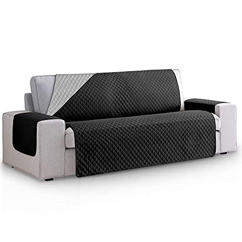 Funda Cubre Sofa Acolchado Reversible Bicolor