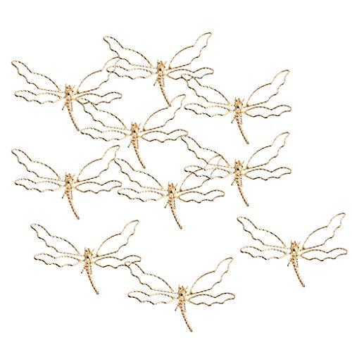 SDENSHI 10 Piezas de Broches Pasadores de Pelo de Metal de Aleación de Oro para Broches de Moda,