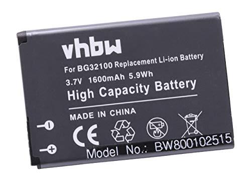 vhbw Li-Ion Akku 1600mAh (3.7V) passend für Handy Telefon Smartphone HTC Desire S, PG88100, S510, S510E, Saga, Google G12 ersetzt BA S530, BG32100.