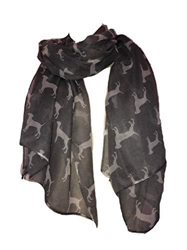 Labrador-Hund Schal grau mit weißen Hunde Mode lange weiche Wrap/Sarong (Labrador dog scarf grey with white dogs fashion long soft wrap/sarong)