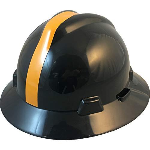 MSA 10194779 NFL V-Gard Full Brim Hard Hat, Pittsburgh Steelers