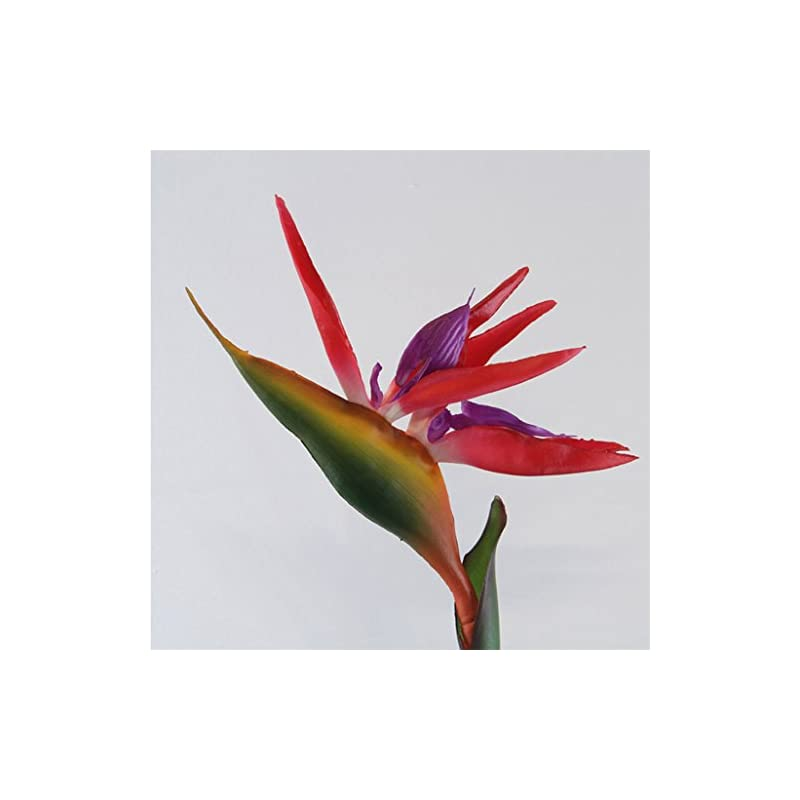 silk flower arrangements super1798 artificial flower bird of paradise fake plant silk strelitzia reginae home decor - red