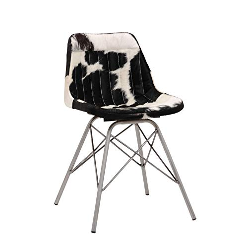 PTMD Stoel Clint Black Cow Leather Chair geen armen