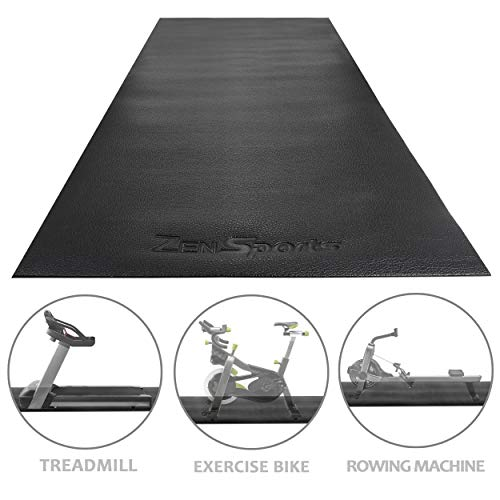 ZENY Treadmill Mat Gym Floor Mat High Density Fitness Equipment Mats,Extra Large Exercise Bike Mat,Jump Rope Mat,Elliptical Mat,Protective Flooring,8