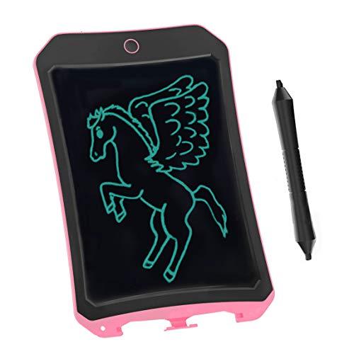 BIBOYELF 8.5 Inch Bordoschermo Elettronico Doodle Board,Tavolo da Disegno Per Bambini-Best Regali Per Bambini&Adulti (Rosa D)