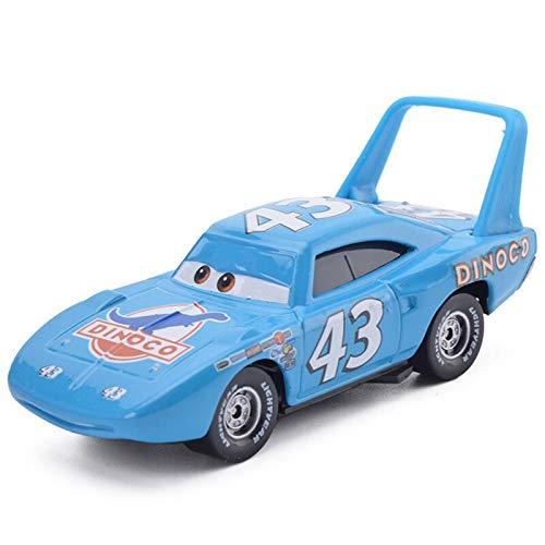 Disney 1:55 Metal Alloy Disney Pixar Cars 3 Lightning Mcqueen Black Storm Jackson Ramirez Dinoco All Disney Style Model Toys Vehicles 36