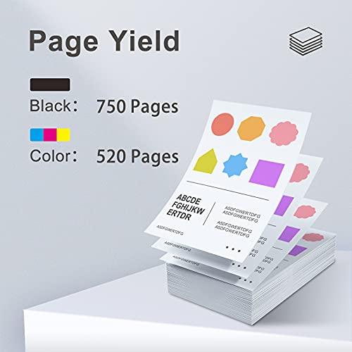 BunToner - Cartucho de tinta compatible 350XL y 351XL para impresoras Canon Pixma iP2700, mp250, mp230, mp280, mp495, mp240, mx410, mx320, mp490, mp260 (1 negro, 1 color)