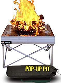Campfire Defender Protect Preserve Pop-Up Fire Pit | Portable and Lightweight | Fullsize 24 Inch | Never Rust FirePit | Go Anywhere Fire Bowl (Pop-Up Pit Only)