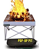 Pop-Up Fire Pit | Portable and Lightweight | Fullsize 24 Inch | Weighs 7 lbs. | Never Rust Fire Pit | Heat Shield Optional for Leave No Trace Fires (Pop-Up Fire Pit)
