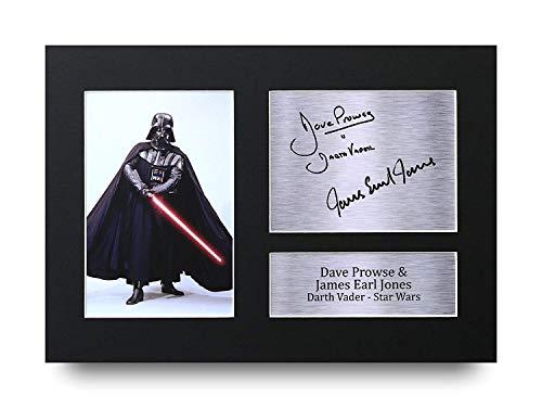 HWC Trading Star Wars Darth Vader A4 Ungerahmt Signiert Gedruckt Autogramme Bild Druck-Fotoanzeige Geschenk Für Dave Prowse & James Earl Jones Filmfans