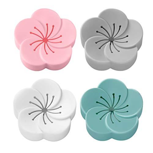 EXCEART 4Pcs Gabinete Ambientador Desodorante Eliminador Absorbente de Olores para Armarios Coches Maletas Refrigeradores Cajas de Arena para El Dormitorio del Hogar Baño 4 Colores