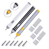Hillento 3 Set Electric Eraser, Electric Eraser Kit Battery Operated Eraser Automatic Pencil Eraser with 66pcs Additional Replaceable Rubbers for Artists, Art Pencils, Drawing, Painting, 3 Colors