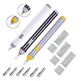 Hillento 3 sistema del borrador eléctrica, batería kit borrador eléctrico operado borrador borrador de lápiz automático con 66pcs cauchos reemplazables adicionales para lápices de arte, dibujo