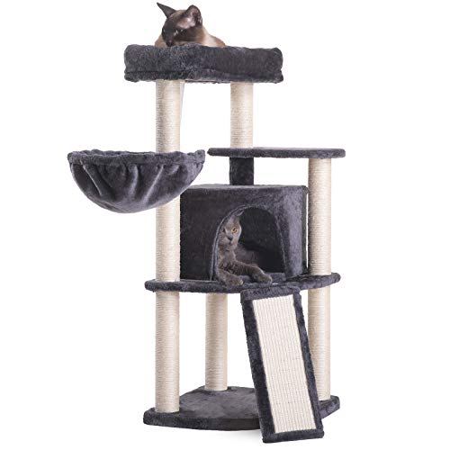 HEY-BROTHER 40.5-INCH CAT TREEs for declawed cats
