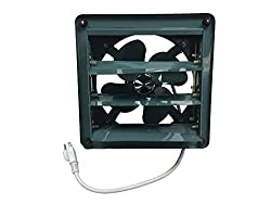 Runner Up for Best Garage Exhaust Fan: Professional Grade Products 8-inch Metal Shutter Exhaust Fan