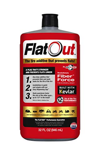 FlatOut 20110 Tire Sealant (Multi-Purpose Formula), Great for Boat Trailers, ATV/UTVs, Golf Carts, Dirt Bikes, Riding Lawn Mowers, Snow Blowers and more, 32-Ounce, 1-Pack