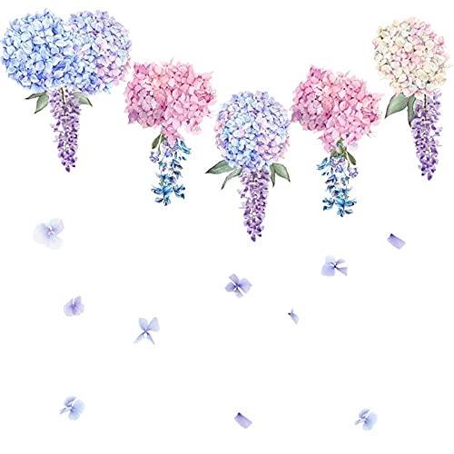Pegatina De Pared De Flor De Lavanda Púrpura Sala De Estar Dormitorio Sofá Decoración De Fondo Decoración Del Hogar Combinación De Pegatinas Autoadhesivas