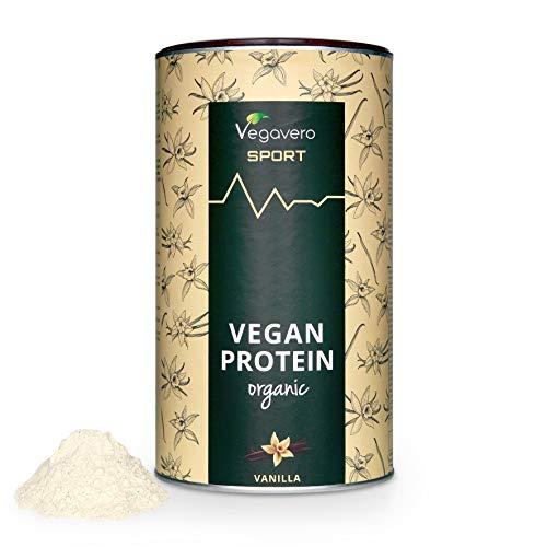 Protéines VEGAN BIO Vegavero®   80% de Protéines BIO de Pois et de Riz   Sans Édulcorants/Soja   Alternative à la Whey Protein   Avec Cuillère Doseur   Solubles et Digestibles   Vanille   500 g