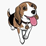 Beagle Cartoon Funny Beagles Dogs Stickers Sticker Vinyl Waterproof Sticker Decal Car Laptop Wall Window Bumper Sticker 5'