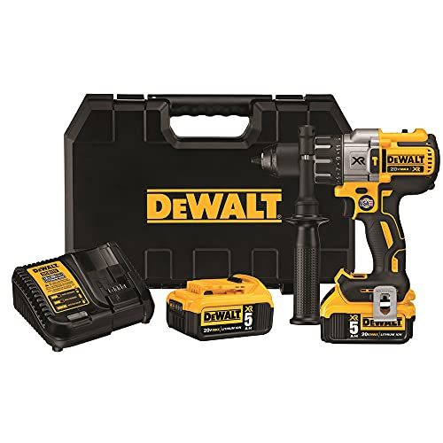 DEWALT 20V MAX XR Hammer Drill Kit, Brushless, 3-Speed,...