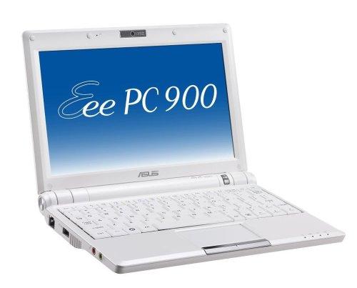 ASUS Eee PC 900 8,9 Zoll Netbook (Intel Mobile Prozessor, 1GB RAM, 20GB Solid State Drive, Linux, 4 Zellen) perlweiß