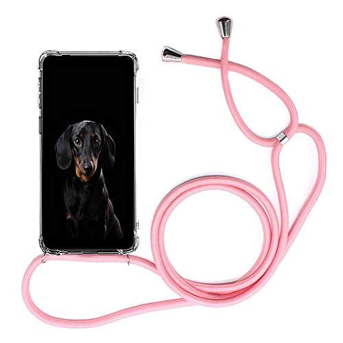 Mediatech Handykette kompatibel mit Samsung Galaxy S9 - Handy-Kette Handyhülle mit Band Handy Hülle mit Kordel zum Umhängen Halsband Necklace Handyanhänger Band Case Cover (Transparent 5.8 Bumper)