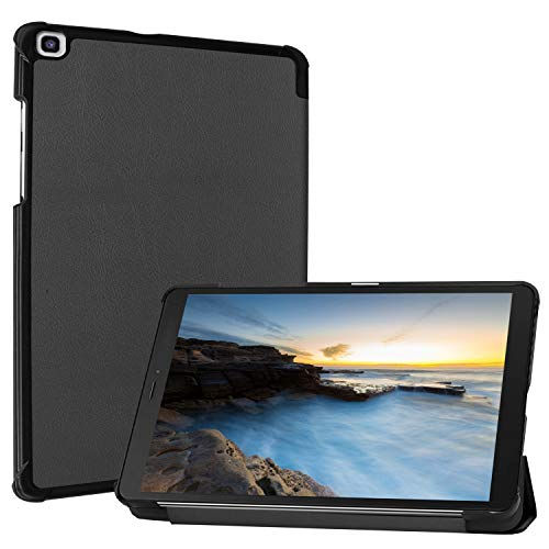 ProCase Galaxy Tab A 8.0 2019 Case T290 T295, Slim Light Cover Trifold Stand Hard Shell Folio Case for 8.0 inch Galaxy Tab A 2019 Without S Pen Model SM-T290 (Wi-Fi) SM-T295 (LTE) –Black