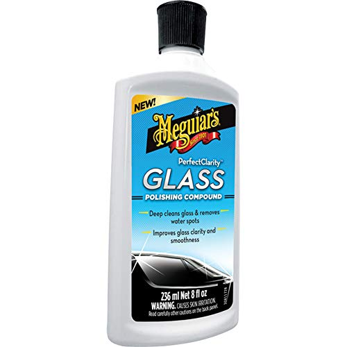 Meguiar's G8408EU Meguiars Perfect Clarity Glass Polishing Compound Glaspolitur, 235 ml