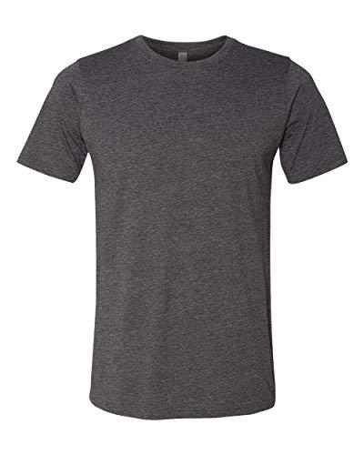 Camiseta masculina de gola redonda Next Level 6200, Charcoal, Large